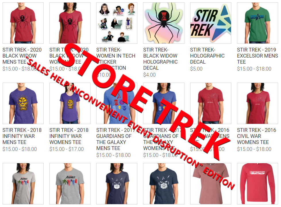 A selection of Store Trek items